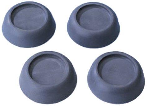 WENKO 7301100 trillings-/trillingsdemper, voor wasmachines, 4-delige set, thermoplast, 4,5 x 2 x 4,5 cm, grijs