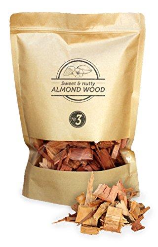 Smokey Olive Wood 1'7 litros, virutas de Madera de Almendro para Barbacoa y ahumar, Talla 2-3cm