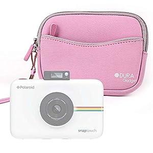 DURAGADGET Funda/Estuche De Neopreno Rosa para Cámara Polaroid Snap Touch 2.0 + Correa De Mano