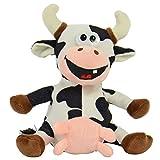 Kögler 75910 Laber Kuh ELSA aus den Hösti Comics, Labertier mit Aufnahme-und Wiedergabefunktion, plappert Alles witzig nach und bewegt Sich, ca. 18 cm groß, Jungen und Mädchen