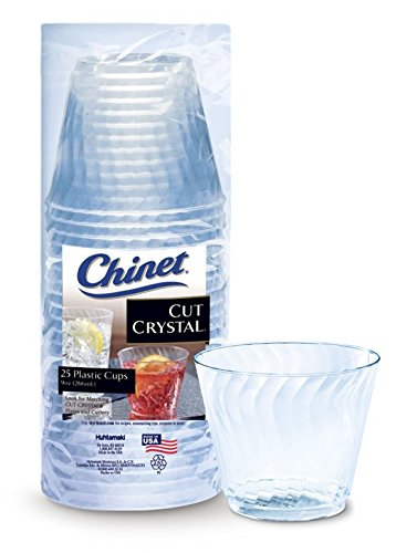 Chinet Cut Crystal Tumblers, 9 Ounce, 25 Count