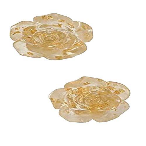 Pendientes de la forma de rosa Pendientes de temperamento de moda femenino Adecuado para damas Golden Rose Clip-on Pendientes No hay necesidad de golpear el regalo del regalo del día de la madre Regal