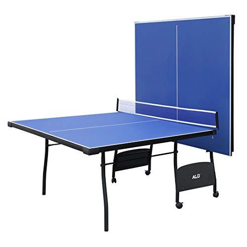 YP Mesa de Ping Pong Plegable Ping Pong Mesa para Interior y Exterior con 4...