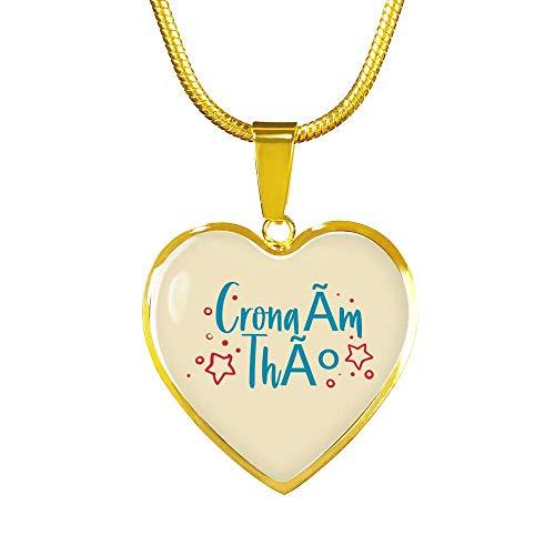 Cronaím Thú (I Miss You) Heart Pendant Necklace