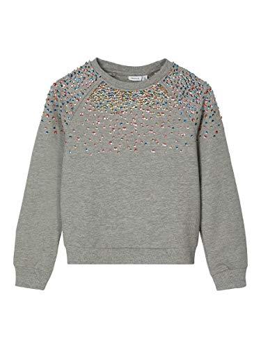 NAME IT Girl Sweatshirt Pailletten 134-140Grey Melange