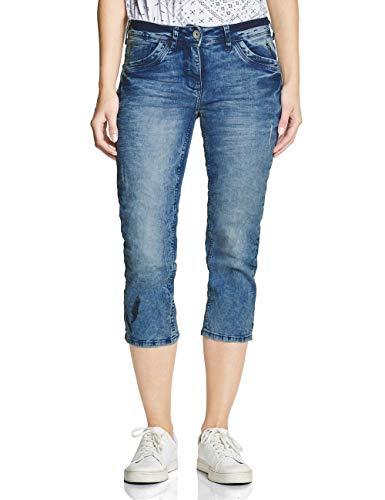 Cecil Damen 372303 Straight Jeans, Authentic Used wash, W28 (Herstellergröße:28)