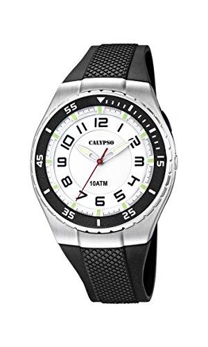 Calypso watches Calypso watches - Reloj analógico de Cuarzo para niño con Correa de plástico, Color Negro