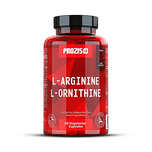 Prozis L-Arginine /L-Ornithine Amminoacidi da 500 mg, 60 Capsule Vegetariane