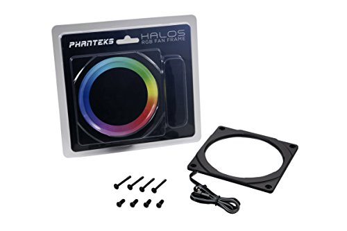 Phanteks PH-FF120RGBP_BK01 Halos RGB Fan Frame High density LEDs RGB 120mm fan mounting