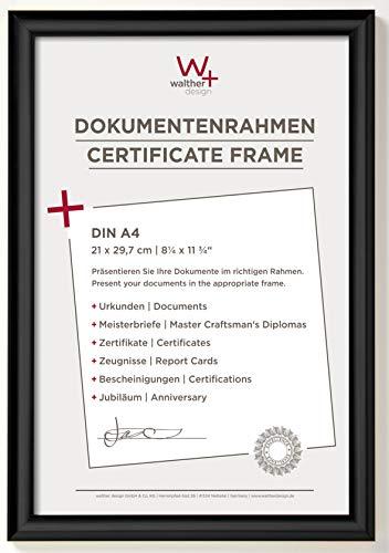 walther design KP130B Trendstyle Kunststoffrahmen 21x29, 7 cm DIN A4, Schwarz