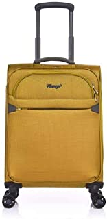 Verage Flight 55cm Small Carry On Suitcase Yellow