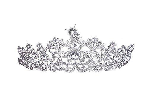 [KimBerley] ウェディング ティアラ ラインストーン クラウン ヘッドドレス ブライダル 結婚式 花嫁 ニ次会 撮影 披露宴 ヘアアクセサリー
