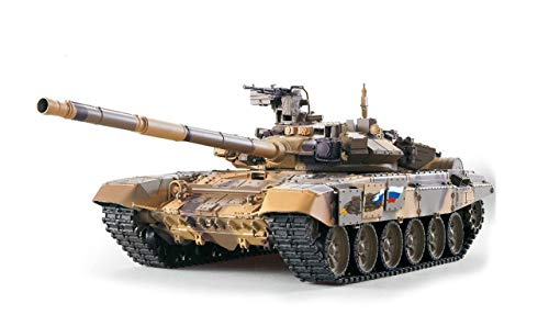 Amewi 23087 RC Panzer Russland T90 Heng Long 1:16 Rauch&Sound und Metallgetriebe 2,4Ghz