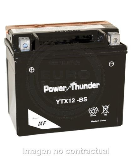 Power Thunder - Batería YTX12-BS [0612971P]