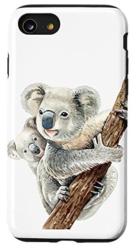 iPhone SE (2020) / 7 / 8 Cute Koala Bear and Baby Realistic Watercolor Case