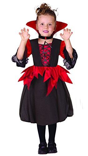 Ciao - Costume Lady Vampirella per Bambini, Rosso/Nero, 7-10 anni, 13009.7-10