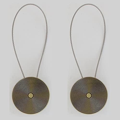 Set 2 Alzapaños para Cortinas De Metal Imantada Mandala PM - Bronce