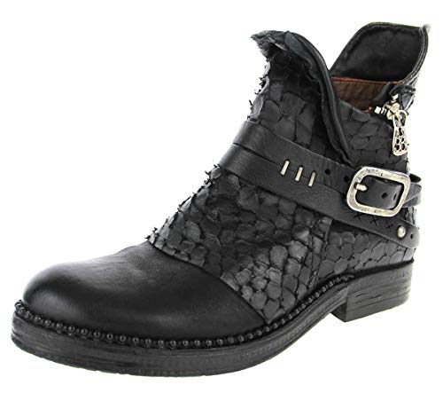 A.S.98 Damen Stiefeletten Hochwertiger Boot 250201NERO+Nero schwarz 544137