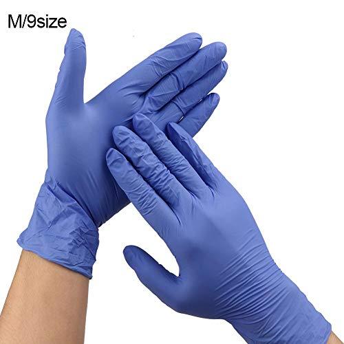 Wegwerphandschoenen,50st Wegwerphandschoenen van PVC Hoogelastische,Handschoenen hoge flexibiliteit voor chemische industrie Huishoudelijke reiniging,Hygiëne-inspectie(Paarse 9 inch M-code)