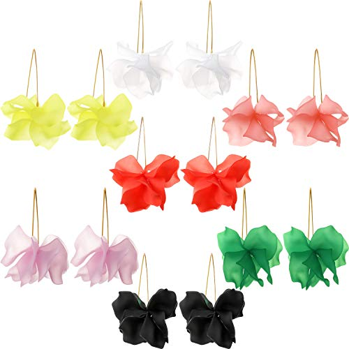 7 Pairs Flower Floral Earrings Flower Hoop Drop Earrings Acrylic Dangle Earrings for Women Girls