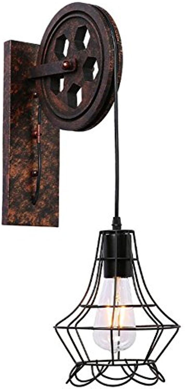 Kfig Wandleuchte Vintage Riemenscheibe Innen Haus Wnde Dekoration Beleuchtung E27 Lampenhalter Attischer Gang Nachttischlampe