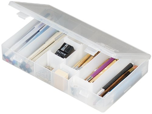 ArtBin 600 IDS Box with Dividers - Shatter Proof Art & Craft Storage Box, 11 x 6.5 x 1.75 in., Translucent