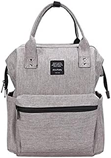 Diaper Bag Multi-Function Waterproof Travel Backpack Nappy Bags for Baby Care, Large Capacity, Stylish and Durable, Gray