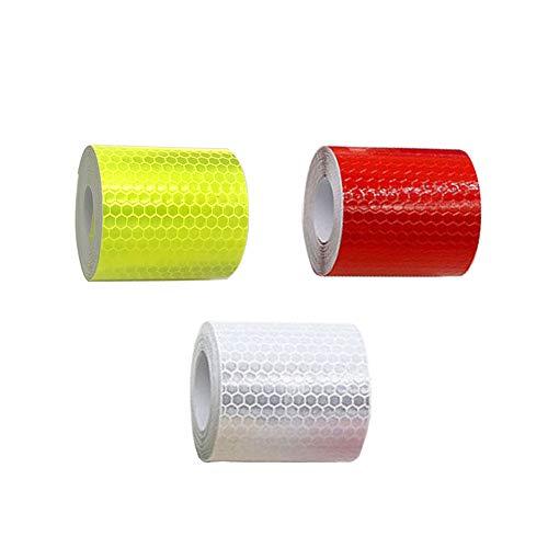 Sprießen reflektierendes Klebeband für Reflektoren, Sicherheitsmarke, 5 cm x 3 m, 3 Stück