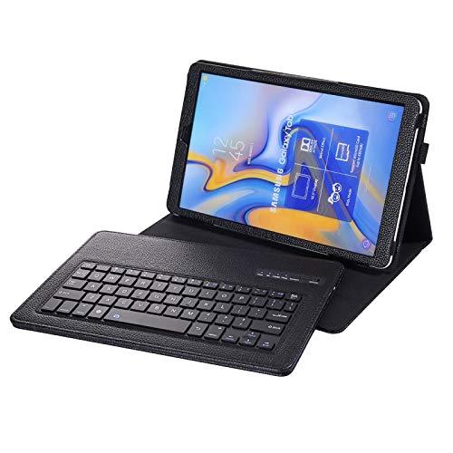 YANTAIAN Accesorios de tabletas SA590 Funda de Cuero con Teclado Bluetooth Desmontable y Textura 3.0 Litchi para Samsung Galaxy Tab A 10.5 Pulgadas T590 / T595, con Soporte (Color : Black)