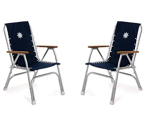 FORMA MARINE Juego de 2 sillas de respaldo alto, sillas de barco,...