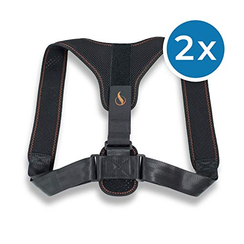 Genius Posture Doctor Rückengurt (2 Teile) Rückengurt zur Haltungskorrektur, der die Schultern entspannt und die Wirbelsäule ausrichtet - unsichtbar unter der Kleidung