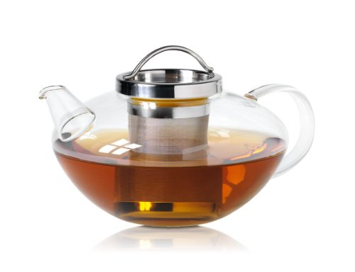 Wollenhaupt 49694 Tee-/Glas Kanne, Lotus mit Edelstahlsieb, 1.2 L