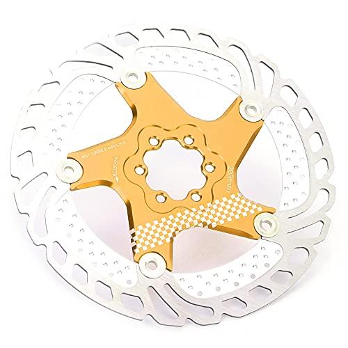 FOLOSAFENAR Freno De Disco De Enfriamiento De Bicicleta, Aleación De Aluminio con Rotor De Hielo Flotante para Bicicleta De Carretera Ultraligera para Bicicleta De Carretera(Default)