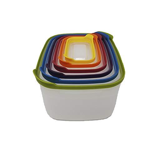 12-Piece Nesting Food Storage Container Set, Space Saver, Kitchen Organization