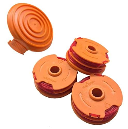 Sale!! WORX WA0208 Replacement .065 Spools and Cap for 100 Series Trimmers