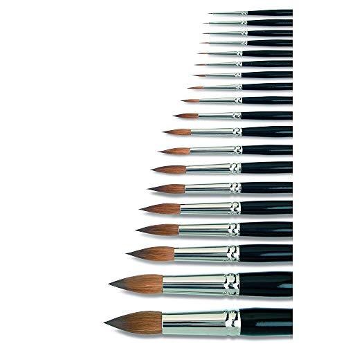 5 echte Kolinsky-Rotmarderhaare, Kurze, schwarz lackierte Stiele, Nahtlose Silberzwinge. Alle Pinsel Dieser Serie Werden in Reiner Handarbeit in Deutschland gefertigt (0 (Pinselbreite 1,00 mm))