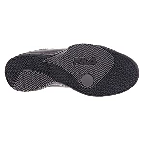 Fila Men's Contingent Basketball Shoes Sneakers Black Grey, 11.5