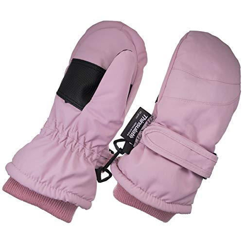 Children Toddlers and Baby Mittens Made With Thinsulate,and Fleece - Winter Waterproof Gloves By Zelda Matilda, Light Pink, 1 - 2 years