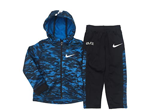 NIKE Boys Anthracite and Red Zip-up Athletic Jacket and Pants Set (4)