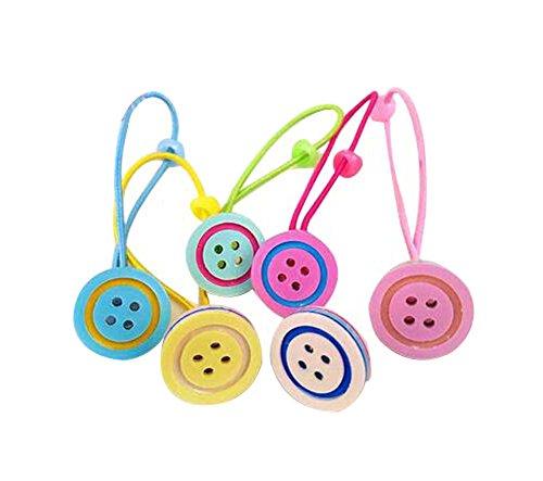 12 pièces Bands Cartoon Design Cravate cheveux caoutchouc Cordes Anneaux cheveux, Style des boutons