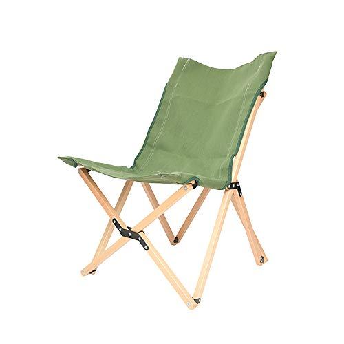 Folding Chairs Chaise Pliante en Bois Massif Chaise Papillon Chaise Longue paresseuse Balcon Bureau Chaise Longue Unique Chaise de Plage extérieure Portable