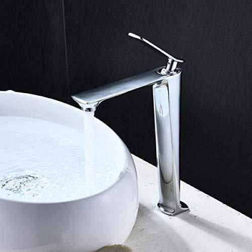 Grifo de lavabo de baño negro con grúa de frío y calor Grifo de lavabo blanco monomando-chrome_tall,IQOKP4DBQTE9G