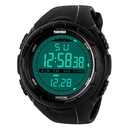 LED Digital Mens Military Watch Men Sports Watches 5ATM Swim Climbing Fashion Outdoor Casual Orologi da polso da uomo