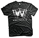 Westworld Oficialmente Licenciado Poster Camiseta para Hombre (Negro), Large