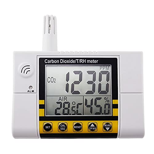 CO2 Monitor Air Quality Monitor for Carbon Dioxide Humidity Tempeture NDIR Sensor CO2 Meter Controller with Relay Function for Grow Room Home Office
