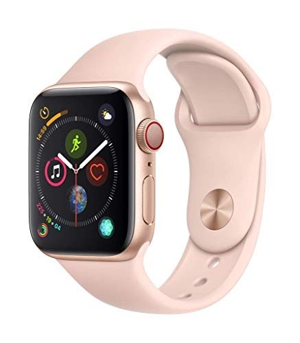 Apple Watch Series 4 (GPS + Cellular) (Renewed) (Pink Sport, 40mm)