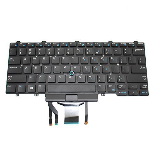 YEECHUN US Layout Backlit Black Replacement Keyboard for Dell Latitude 14 5000 (E5450) (E5470) 14 7000 (E7450) (E7470) 0D19TR, D19TR Series Part Number: PK1313D4B00, SN7230BL, 13102900091