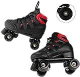 Pattini in Linea a Rotelle Pattini a rotelle Professionale Rollerskates Sport Quad con 4 Ruote All'aperto Pattinaggio di velocità Scarpe for Uomo e Donna Adulto Unisex (Color : Black, Size : 42)