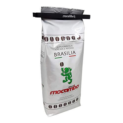Mocambo Espresso Brasilia Crema E Aroma inklusive einer Drago Mocambo Kaffeebeutelklammer, 1000g ganze Bohne