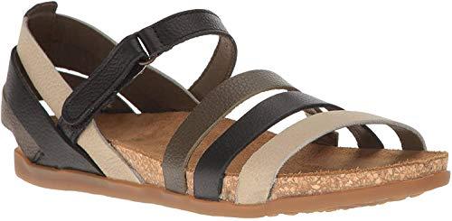 El Naturalista Women's Zumaia Flat Sandal, Black Mixed, 37 EU/7 M US/4.5 M UK
